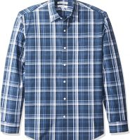 Malouka Men's Regular-Fit Long-Sleeve Plaid Shirt